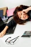 Azjatycka kobieta pracująca Fotografia Stock