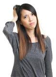 Azjatycka kobieta udaremniająca zdjęcie stock