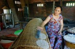 Azjatycka kobieta, Wietnamski ryżowy papier Obrazy Stock