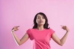 Azjatycka kobiety władza zdjęcia royalty free
