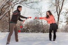 Azjatycka para w miłości Fotografia Stock