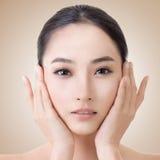 Azjatycka piękno twarz Zdjęcia Royalty Free