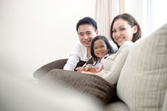 Azjatycka rodzina Obraz Stock