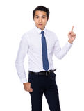 Azjatycki biznesmena palec pokazuje up Zdjęcie Stock