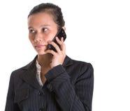 Azjatycki bizneswoman IV I Smartphone Obraz Stock