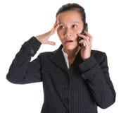Azjatycki bizneswoman VI I Smartphone Obraz Royalty Free