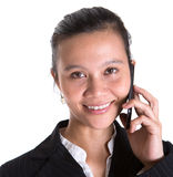 Azjatycki bizneswoman VIII I Smartphone Fotografia Stock