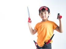 Azjatycki chłopiec sztuki inżynier zdjęcie royalty free