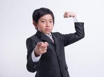 Azjatycki chłopiec biznes obrazy royalty free