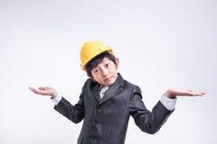 Azjatycki chłopiec biznesmen obrazy stock