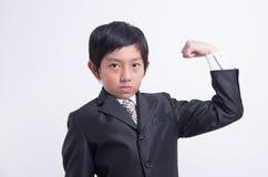 Azjatycki chłopiec biznesmen obrazy royalty free
