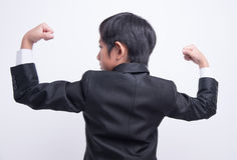 Azjatycki chłopiec biznesmen obraz stock