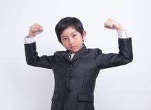 Azjatycki chłopiec biznesmen zdjęcia royalty free