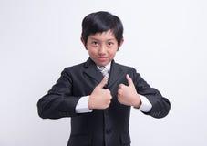 Azjatycki chłopiec biznesmen zdjęcie royalty free