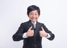 Azjatycki chłopiec biznesmen zdjęcia stock