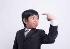 Azjatycki chłopiec biznesmen fotografia royalty free