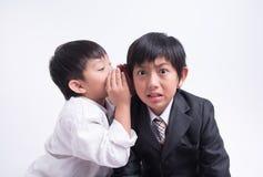 Azjatycki chłopiec personelu szef obrazy stock