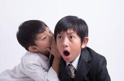 Azjatycki chłopiec personelu szef zdjęcie stock