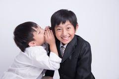 Azjatycki chłopiec personelu szef obrazy royalty free
