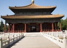 Azjatycki chińczyk, Pekin, historyczni budynki, Guo zi jian Obrazy Royalty Free