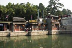 Azjatycki chińczyk, Pekin lato pałac, Suzhou ulica antykwarski budynek Zdjęcie Royalty Free
