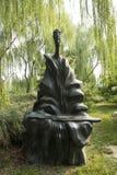 Azjatycki chińczyk, Pekin, Międzynarodowy rzeźba park ancients, guzheng Obrazy Royalty Free