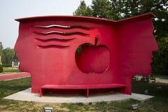 Azjatycki chińczyk, Pekin, Międzynarodowy rzeźba park ogród rajski obraz stock