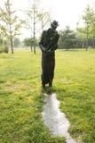 Azjatycki chińczyk, Pekin, Międzynarodowy rzeźba park, rzeźba, błękity W nocy Obrazy Royalty Free