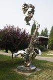 Azjatycki chińczyk, Pekin, Międzynarodowy rzeźba park, rzeźba, ciosu saksofon, muzyk Fotografia Royalty Free