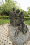 Azjatycki chińczyk, Pekin, Międzynarodowy rzeźba park, rzeźba dźwięki góry, zgłębia w górach Zdjęcie Stock