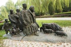 Azjatycki chińczyk, Pekin, Międzynarodowy rzeźba park, rzeźba dźwięki góry, zgłębia w górach Zdjęcia Stock