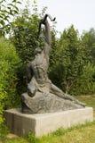 Azjatycki chińczyk, Pekin, Międzynarodowy rzeźba park, rzeźba potomkowie strzelanina, łucznictwo Obrazy Royalty Free
