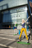 Azjatycki chińczyk, Pekin, plac, całościowi handlowi budynki Obraz Royalty Free