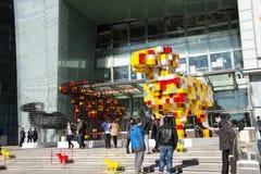 Azjatycki chińczyk, Pekin, plac, całościowi handlowi budynki Zdjęcia Royalty Free