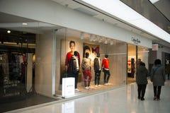 Azjatycki chińczyk, Pekin, Raffles miasto zakupy plac Obrazy Royalty Free