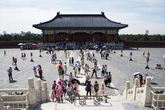 Azjatycki chińczyk, Pekin, Tiantan park, historyczni budynki Fotografia Royalty Free