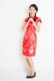 Azjatycki chiński dziewczyny błogosławieństwo obraz stock