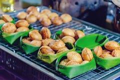 Azjatycki deser w Tajlandzkim ulicznym noc rynku Fotografia Royalty Free