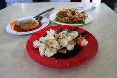 Azjatycki domokrążcy jedzenie Zdjęcia Royalty Free