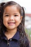 Azjatycki dzieciak dziewczyny uśmiech Obrazy Royalty Free