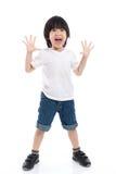 Azjatycki dziecko zaskakuje i w ten sposób szczęśliwy o mnie Fotografia Stock
