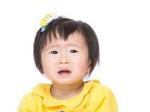 Azjatycki dziewczynka płacz zdjęcie royalty free