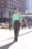 Azjatycki dziewczyny Nowy Jork mody tygodnia ulicy styl w Manhattan Modny styl zdjęcie stock