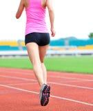 Azjatycki kobieta biegacza bieg fotografia royalty free