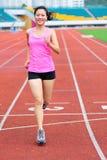 Azjatycki kobieta biegacza bieg Obraz Stock