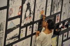 Azjatycki kobieta obrazu manga obrazek na ścianie obraz stock