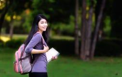Azjatycki kobieta student collegu Obraz Stock
