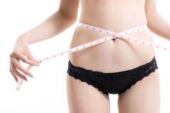 Azjatycki kobiety ciała schudnięcie Fotografia Stock