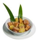 Azjatycki Kokosowy deser Odizolowywający Zdjęcie Royalty Free