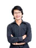 Azjatycki mężczyzna krzyż Ones Zbroi Obrazy Stock